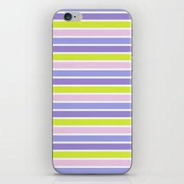 Trendy violet pink yellow modern stripes pattern iPhone Skin