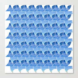 Tessellation with beach and sky Canvas Print