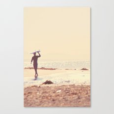 A Visceral Need. Surfer photograph Canvas Print