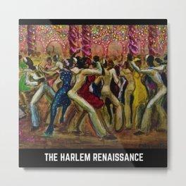 The Harlem Renaissance Jazz Club Celebration Art Motif Metal Print