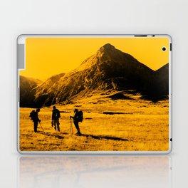 Hello threes of yellow isolation Laptop & iPad Skin