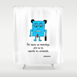 A Typical Employee Shower Curtain