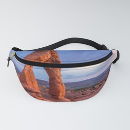 Golden Arch - Delicate Arch at Sunset in Utah Fanny Pack