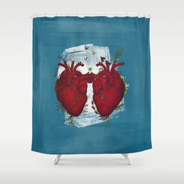 two hearts beating as one Shower Curtain