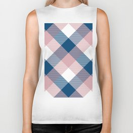 Geometrical Square Abstraction Biker Tank