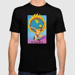 Loteria Mexican Bingo Planet Earth T-shirt