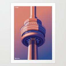 Observation Towers - Toronto Art Print