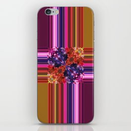 Purplish-Red and Gold Colorblock Abstract iPhone Skin