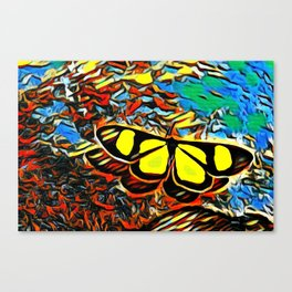 Butterfly, colorful butterfly, watercolor, color splash butterfly Canvas Print