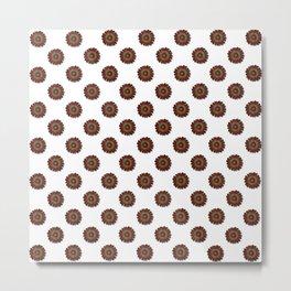 """Red Daisy, (pattern)"" Metal Print"