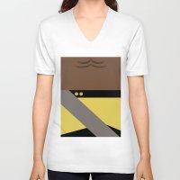 battlefield V-neck T-shirts featuring Worf - Minimalist Star Trek TNG The Next Generation - Enterprise 1701 D - startrek - Trektangles by Trektangles