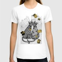 hats T-shirts featuring Two Cats Without Hats by Judith Clay