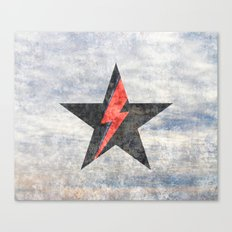 BlackStarMan (waiting in the sky) Canvas Print