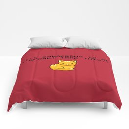 ITS DANGEROUS TO GO ALONE Take This Cat Comforters
