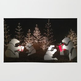 Polar Bear Christmas Rug