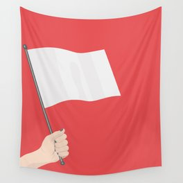 White Flag Wall Tapestry