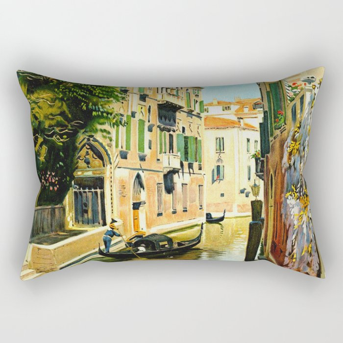 Venezia - Venice Italy Vintage Travel Rectangular Pillow