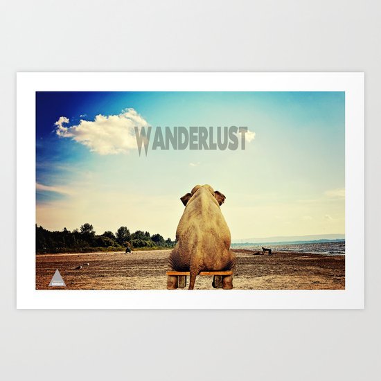 Wanderlust Imagined! Art Print