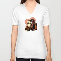 wedding V-neck T-shirts featuring Wedding by Shop 5