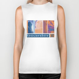 Surf skate snow boarder art Biker Tank