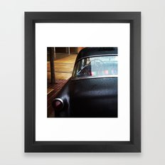 A car that says who cares and we're gonna make right, at the same time. Framed Art Print