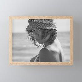 7536 Babe Rachael enjoying Delray Beach Framed Mini Art Print