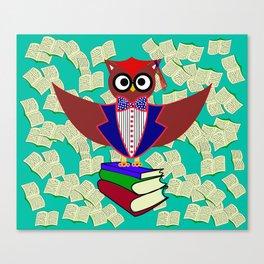 Professor Dr.Owl Canvas Print