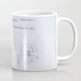 Football Patent Blue Paper Coffee Mug