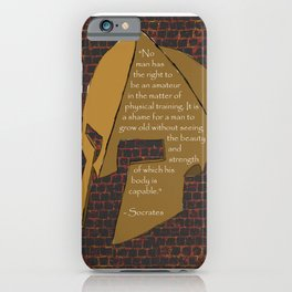"""No man has the right...."" Socrates Quote iPhone Case"