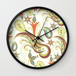 Paisly ornament Wall Clock
