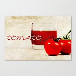 Tomato juice Canvas Print