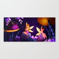 fairies Canvas Prints featuring Fairies by Jimena Mora