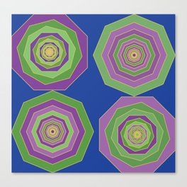 Unbalanced octagon Canvas Print