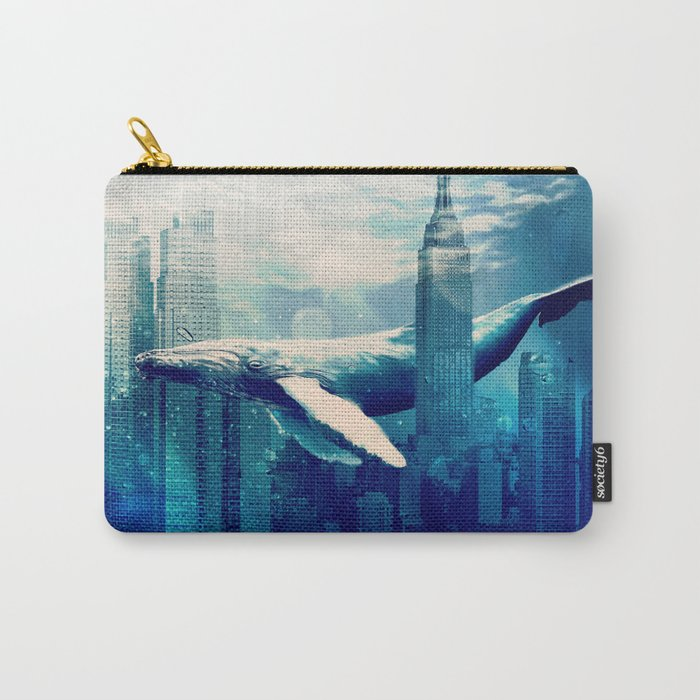 Blue Whale in NYC Carry-All Pouch