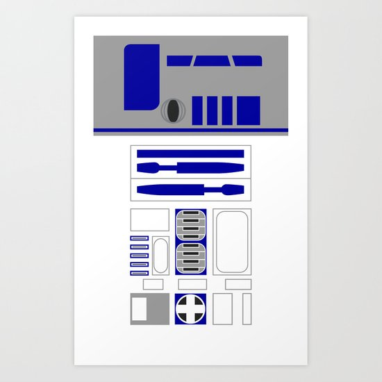Star Wars R2D2 Vector Art Print