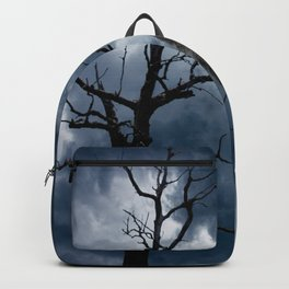 Black Bird Crow Tree Dream Catcher Night Moon A082 Backpack
