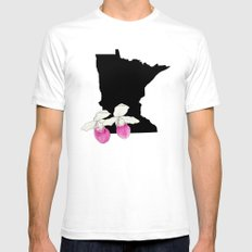 Minnesota Silhouette Mens Fitted Tee SMALL White
