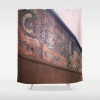 coke Shower Curtains featuring Vintage Coke by Cultivate Bohemia