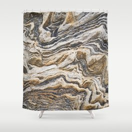 Marble layers Shower Curtain