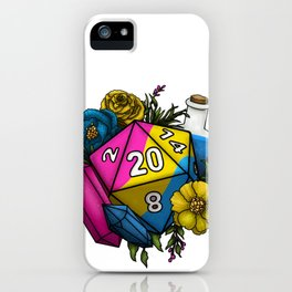 Pride Pansexual D20 Tabletop RPG Gaming Dice iPhone Case
