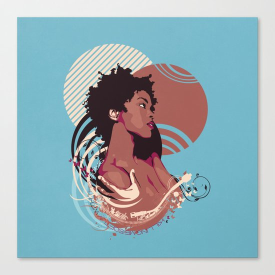 =Lauryn Hill///Killing Me Softly With This Song= Canvas Print