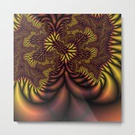 Flaming Roots fractal Metal Print