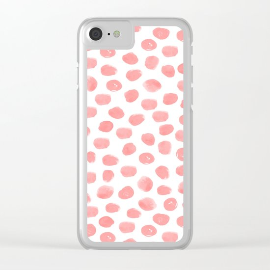 Natalia - abstract dot painting dots polka dot minimal modern gender neutral art decor Clear iPhone Case