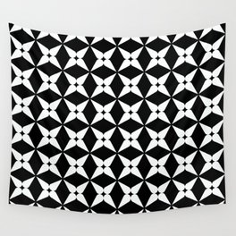 Geometric Pattern 247 (white crosses) Wall Tapestry