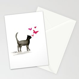 I Love Cats No. 3a by Kathy Morton Stanion Stationery Cards