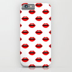 Lips minimal pattern cute gift for valentines day love lipstick Slim Case iPhone 6