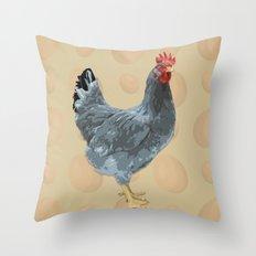 Blue Fowl Throw Pillow