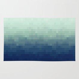 Gradient Pixel Aqua Rug