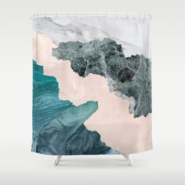 Flooded Marble Shower Curtain