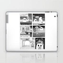 Trick or Treat Ghost Comic Laptop & iPad Skin